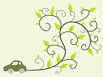 Eco friendly car Stock Image