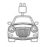 eco friendly car icon image Royalty Free Stock Image
