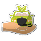 eco friendly car icon image Royalty Free Stock Images