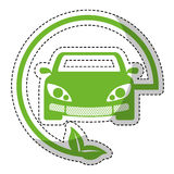eco friendly car icon image Royalty Free Stock Photography