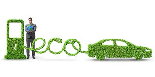 The eco friendly car powered by alternative energy. Eco friendly car powered by alternative energy stock photography