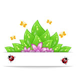 Eco friendly card with green leaves, flower Royalty Free Stock Images