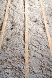 Eco-friendly cellulose insulation made from recycled paper. For building constructions, insulation for walls, ceiling insulation, insulation for floors royalty free stock photos
