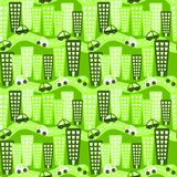 Eco Friendly City Seamless Pattern Royalty Free Stock Photography