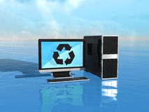 Eco-friendly computers Stock Images