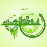 Eco friendly concept with arrow sign Stock Image