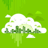 Eco friendly concept with clouds Royalty Free Stock Images