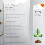 Eco friendly concept design background. Eco friendly concept design background with flat hand and tree illustration Royalty Free Stock Photos