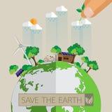 Eco friendly concept design. Green Eco earth.With Eco friendly concept design.Vector illustration Stock Photos