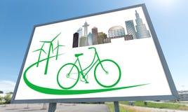 Eco friendly concept on a billboard. Eco friendly concept drawn on a billboard Royalty Free Stock Image