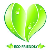 Eco friendly concept  Heart leaf shape Stock Photo