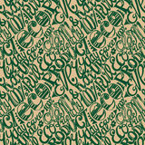 Eco friendly concept-seamless hand drawn pattern, doodles letter Stock Images