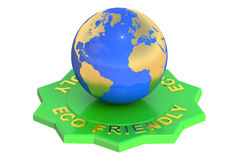 Eco Friendly, 3D rendering Royalty Free Stock Photos