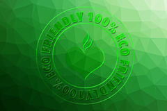 Eco Friendly 100%. For design Royalty Free Stock Photography
