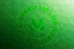 Eco Friendly 100%. For design Stock Images