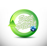 Eco friendly 360 design concept illustration Royalty Free Stock Image