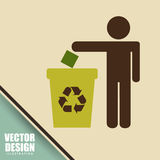 Eco friendly design. Illustration eps10 graphic Royalty Free Stock Image