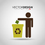 Eco friendly design. Illustration eps10 graphic Royalty Free Stock Photos