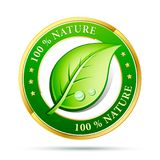 Eco friendly design 100% nature. Vector illustration royalty free illustration