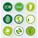 Eco friendly. Design, vector illustration eps10 graphic Stock Image