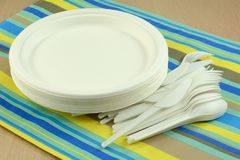 Eco-friendly disposable plates and cultery