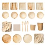 Eco friendly disposable tableware stock image