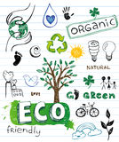 Eco friendly Doodles Stock Photo