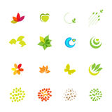 Eco friendly drawing icons set Royalty Free Stock Photo