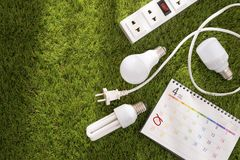 Eco friendly Earth day concept. Saving energy. royalty free stock photography
