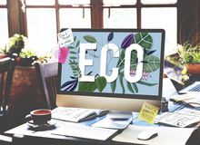 Eco Friendly Earth Day Green Environment Concept stock photo
