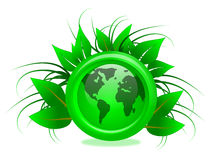 Eco Friendly Green Globe Illustration Royalty Free Stock Image
