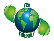 Eco friendly earth. A vector based illustration of planet earth and eco friendly text vector illustration