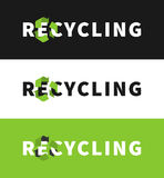 Eco friendly ecological creative concept with recycle sign. Recycling vector illustration. Eco friendly ecological creative concept with recycle sign Stock Image