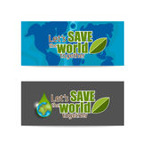 ECO FRIENDLY. Ecology concept with Green Eco Earth and Trees.. Vector illustration Royalty Free Stock Photos