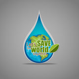 ECO FRIENDLY. Ecology concept with Green Eco Earth. Vector illus Royalty Free Stock Photos