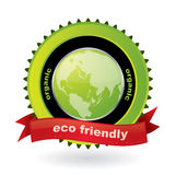 Eco friendly  emblem with label Royalty Free Stock Photo