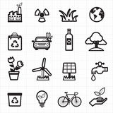 Eco friendly, environment green icons Royalty Free Stock Image