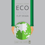 Eco friendly flat design. Save the earth concept.Vector illustration Stock Photography