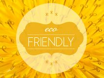 Eco friendly with flower macro background Royalty Free Stock Photography