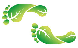 Eco friendly footprint Stock Images