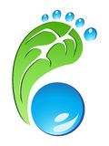 Eco Friendly Footprint vector. The design of Eco Friendly Footprint on white background vector illustration