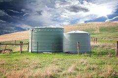 Eco friendly fresh water tanks Stock Image