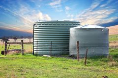 Eco friendly fresh water tanks Royalty Free Stock Image