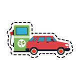 eco friendly gas pump and car icon image Royalty Free Stock Photos