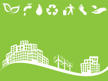 Eco friendly green city Stock Photo