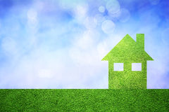 Eco friendly green house concept Royalty Free Stock Images