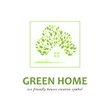 Eco friendly green houses. Concept of eco friendly green houses. Vector logo templat vector illustration