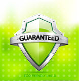 Eco friendly guarantee shield Royalty Free Stock Images