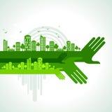 Eco friendly hand concept, illustration Stock Photos