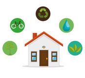 Eco friendly home environmental design Royalty Free Stock Image
